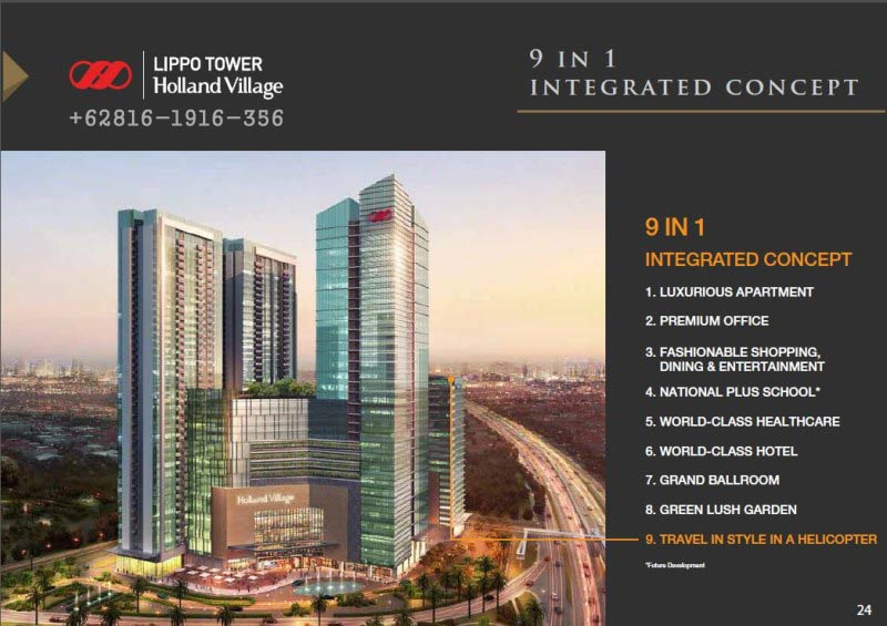 office tower holland village, holland village cempaka putih, holland village jakarta harga, holland village mall jakarta, office tower holland village, lippo holland village manado