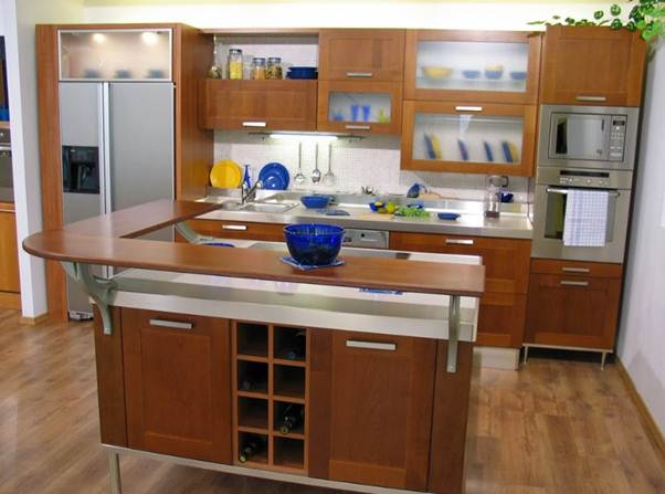 Desain dapur Island for eight